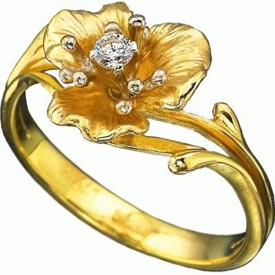 Золотые кольца Недорогие кольца с бриллиантами золото бриллиант...