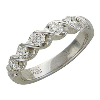 20158 - Эстет Кольцо изготовлено из белого золота 585 пробы и украшено бриллиантом. Средний вес этого кольца 3.96 гр